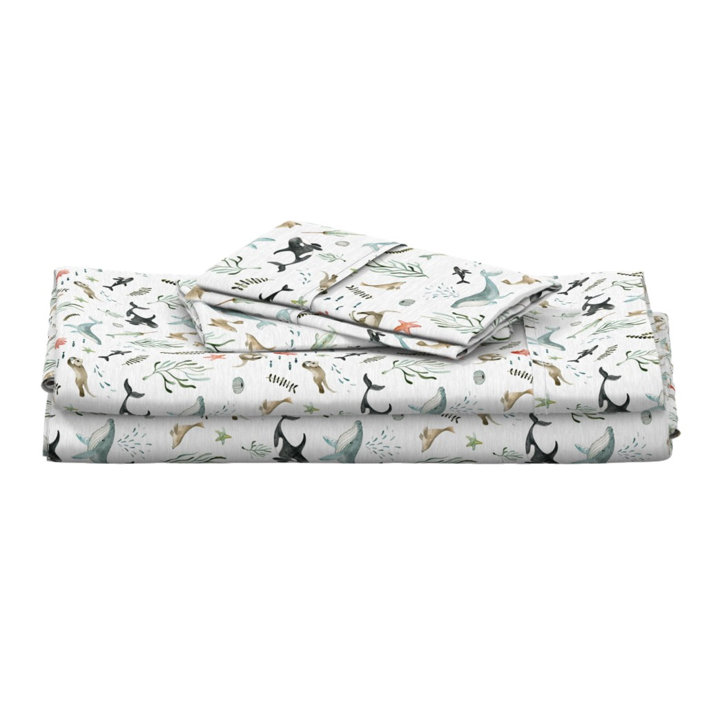 Langshan Full Bed Set featuring Pacific Ocean by little_pine_artistry