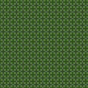 Mini Circle Cross in Green