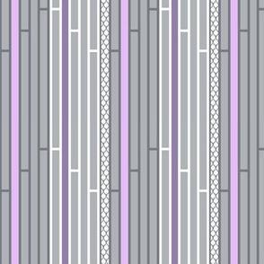 Gray and Purple Striped Lattice with White Stripes