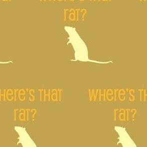 Where's that rat?