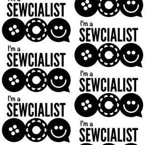 I'm A Sewcialist Logo