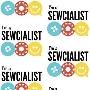 """Official Color """"I'm a Sewcialist"""" Logo"""