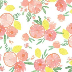 Pink Citrus on white