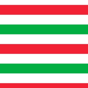 "FS Wide Stripe Holly Jolly Christmas Red White Green 2"" Inch"