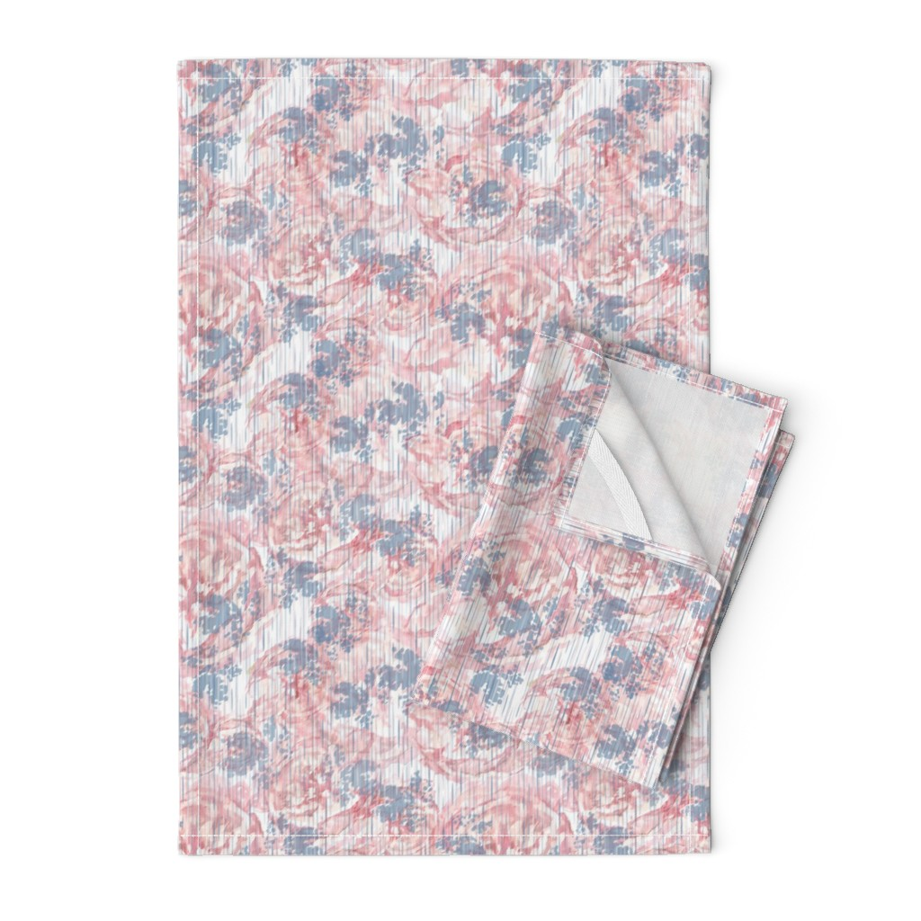Orpington Tea Towels featuring Vintage Floral - Pale Pink by sarah_treu