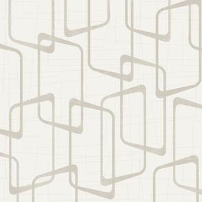 Reverse Beige/Light Warm Gray Retro Rounded Rectangles