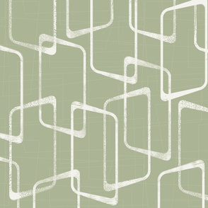 Retro Rounded Rectangles in Soft Green/Beryl Green