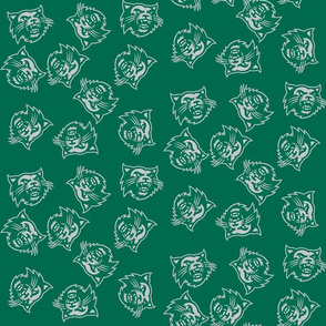 Go Cats Gray on Green
