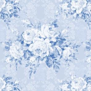 Woodland Rose blueberry damask