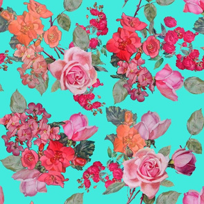 Vintage Roses // Turquoise