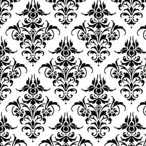 Damask Pattern | Black and White