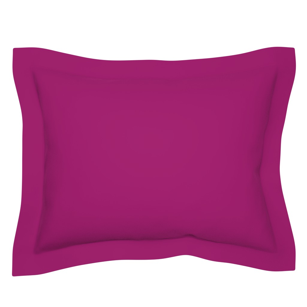 Sebright Pillow Sham featuring Raspberry Purple Solid Color - Coordinates with Josie Meadow Floral by sweeterthanhoney