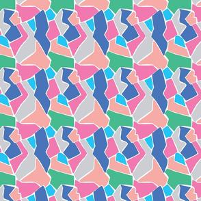Multi coloured jigsaw design