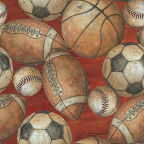 Be the Ball Sports - Football, Baseball, Soccer and Basketball