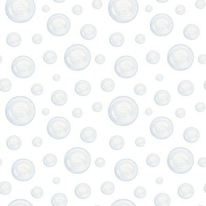 Bubbles on white