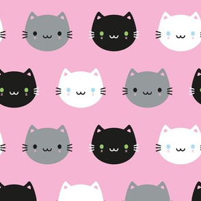 Cute Cats & Kawaii Kittens (Pink)