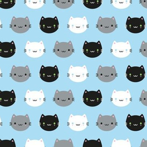 Cute Cats & Kawaii Kittens (Blue)