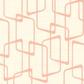 Reverse Blush + Cream Retro Rounded Rectangles