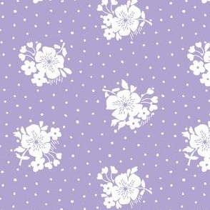 Bloom and dots on purple