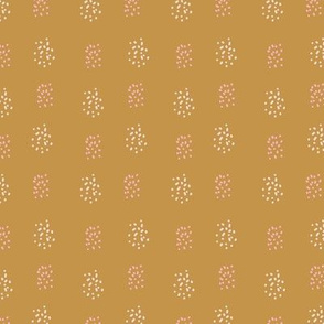 Spotted textures circles on gold