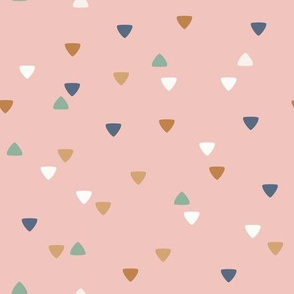 Cute Bohemian Friends - geometric triangles - pink