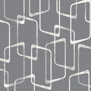 Retro Medium Gray Geometric Pattern