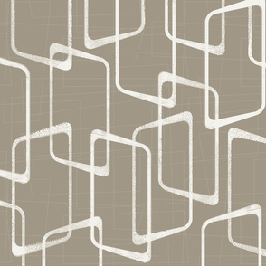 Retro Medium Warm Gray Geometric Pattern