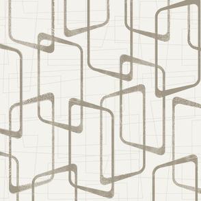 Reverse Medium Warm Gray Retro Geometric Pattern