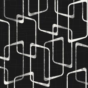 Soft Black and White Retro Geometric Pattern