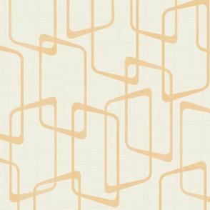 Reverse Soft Gold Retro Geometric Pattern