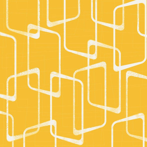 Retro Yellow Geometric Pattern