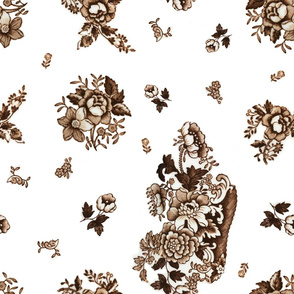 English Floral Brown