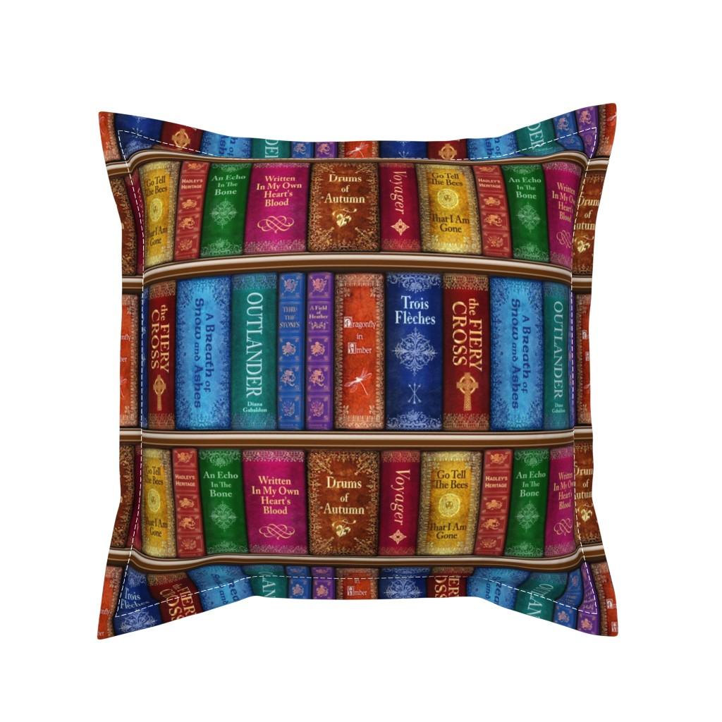 Serama Throw Pillow featuring Thru The Stones Bookshelf - small by sssowers