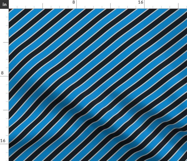 save off 7147f b350b Fabric by the Yard Carolina Panthers team colors