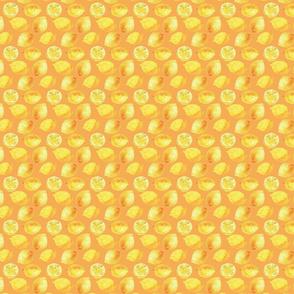 Watercolor Lemons Polka dots - yellow and orange