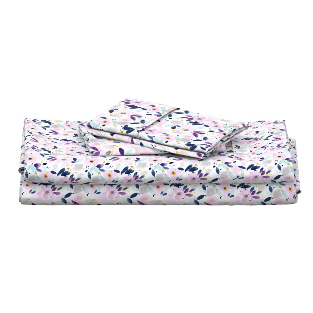 Langshan Full Bed Set featuring mystical floral small by crystal_walen