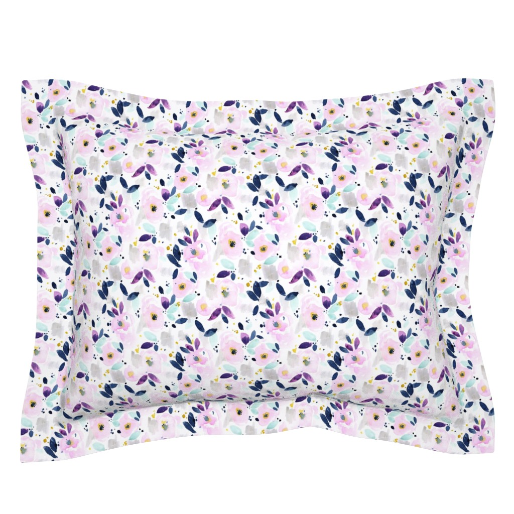 Sebright Pillow Sham featuring mystical floral small by crystal_walen