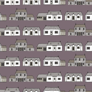 Scottish Houses in Mauve