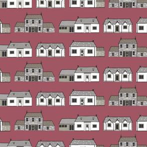 Scottish Houses in Rose