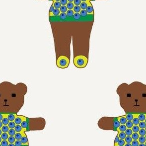 TE_55622_A_Teddy bear in sweater of 24 balls of circles like eyes blue on yellow with shoes