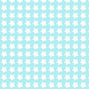 Chilli Flower on aqua blue
