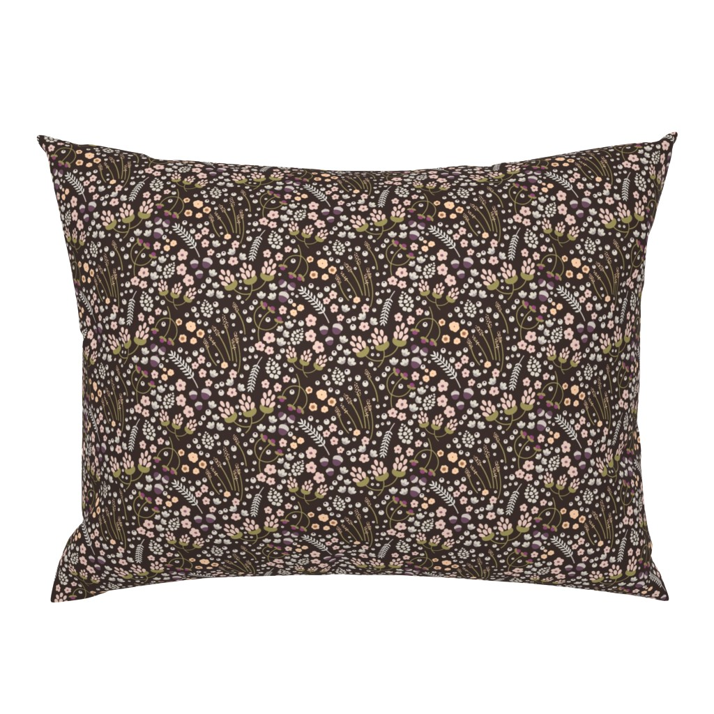 Campine Pillow Sham featuring fall leaves and flowers by sobonnydesigns