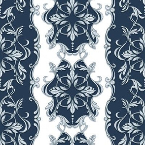 Baroque silver pattern 7