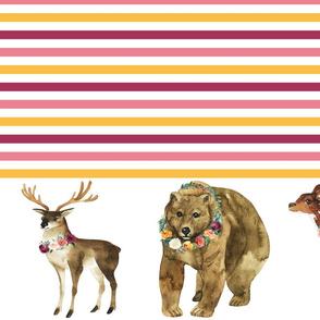 "Paprika Animals Border Stripes 8"" Animals"