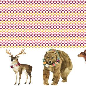"Paprika Animals Border Polka Dots 8"" Animals"