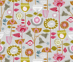 fanciful fifties flowers-retro floral