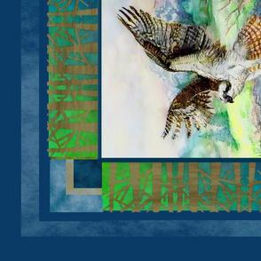 Eagle Osprey And Bear Wildlife Blanket