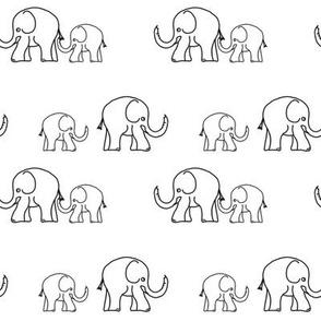 Elephants Two plus two - white