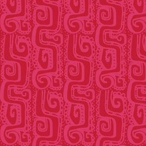 Mexican Wave- coral on chilli red