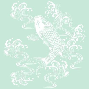 Teal Koi Fish